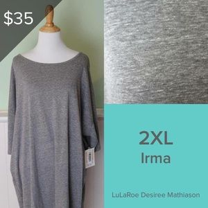 NWT LuLaRoe Irma Tunic - Grey